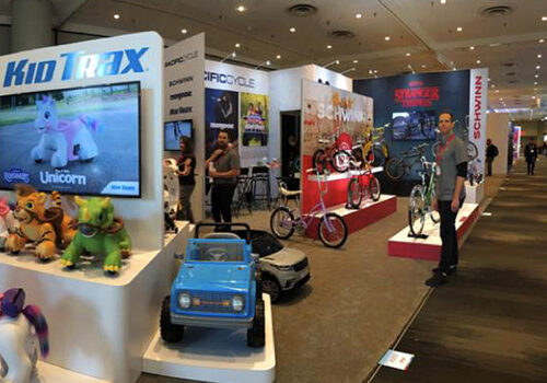 photo of the pacific cycle booth at the 2020 Toy Fair