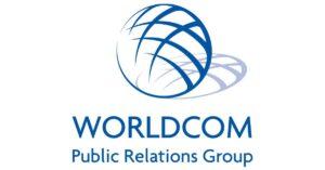 worldcom public relations group logo graphic