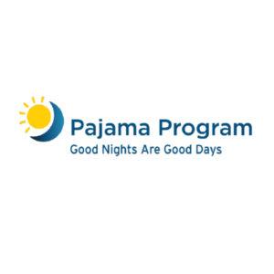 pajama program graphic logo good nights are good days